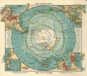 Старинная карта Антарктиды