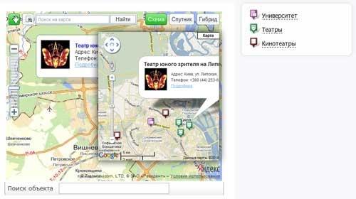 Карта Яндекс и Google