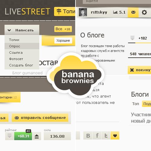 Banana Brownies Логотип